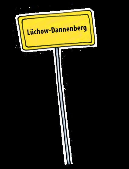 Ortsschild Lüchow-Dannenberg